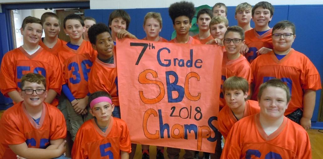 7th Grade SBC Football Champions