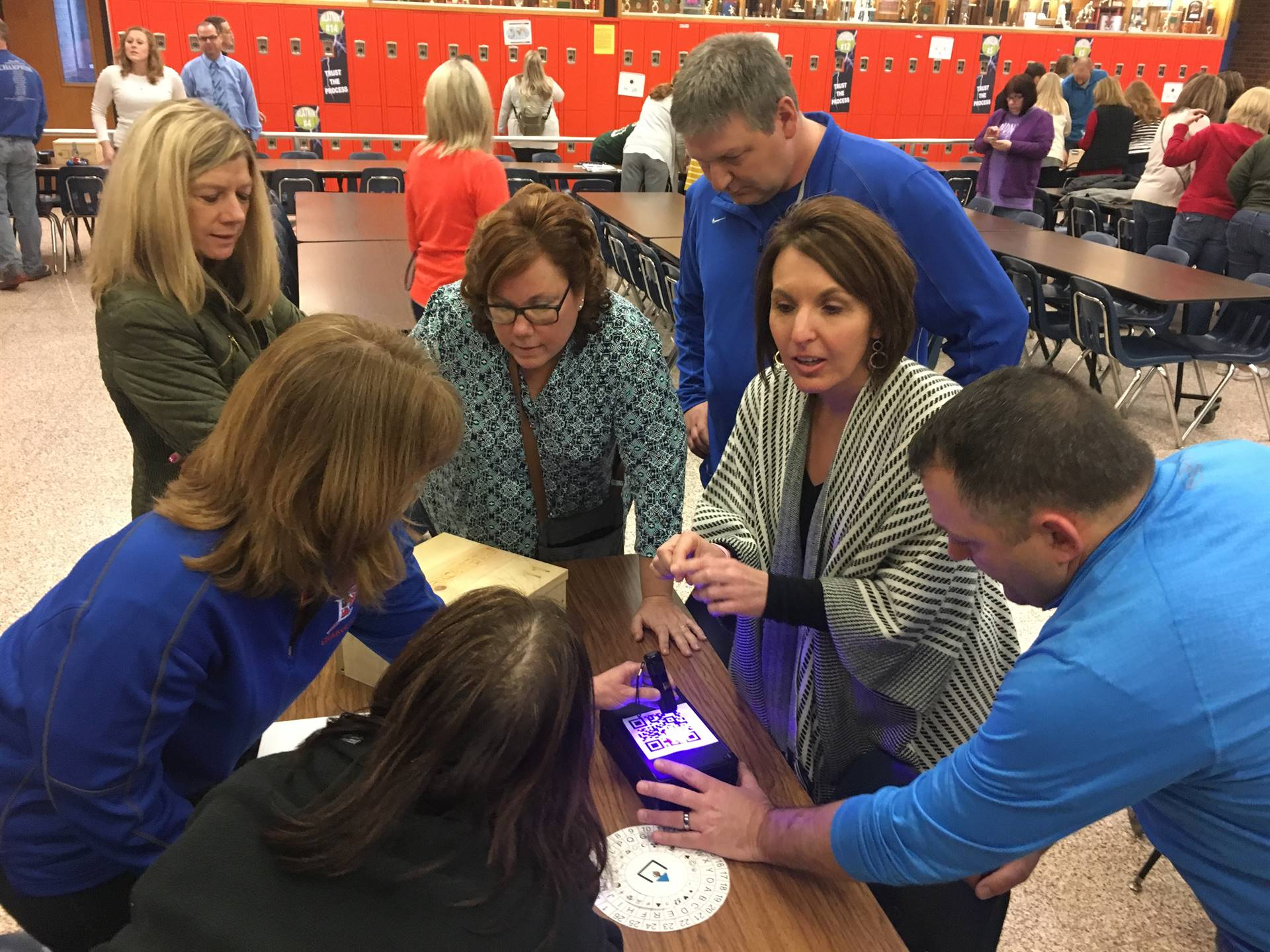 Edison teachers were split into teams and tried to decode provided clues and unlock their Escape Box
