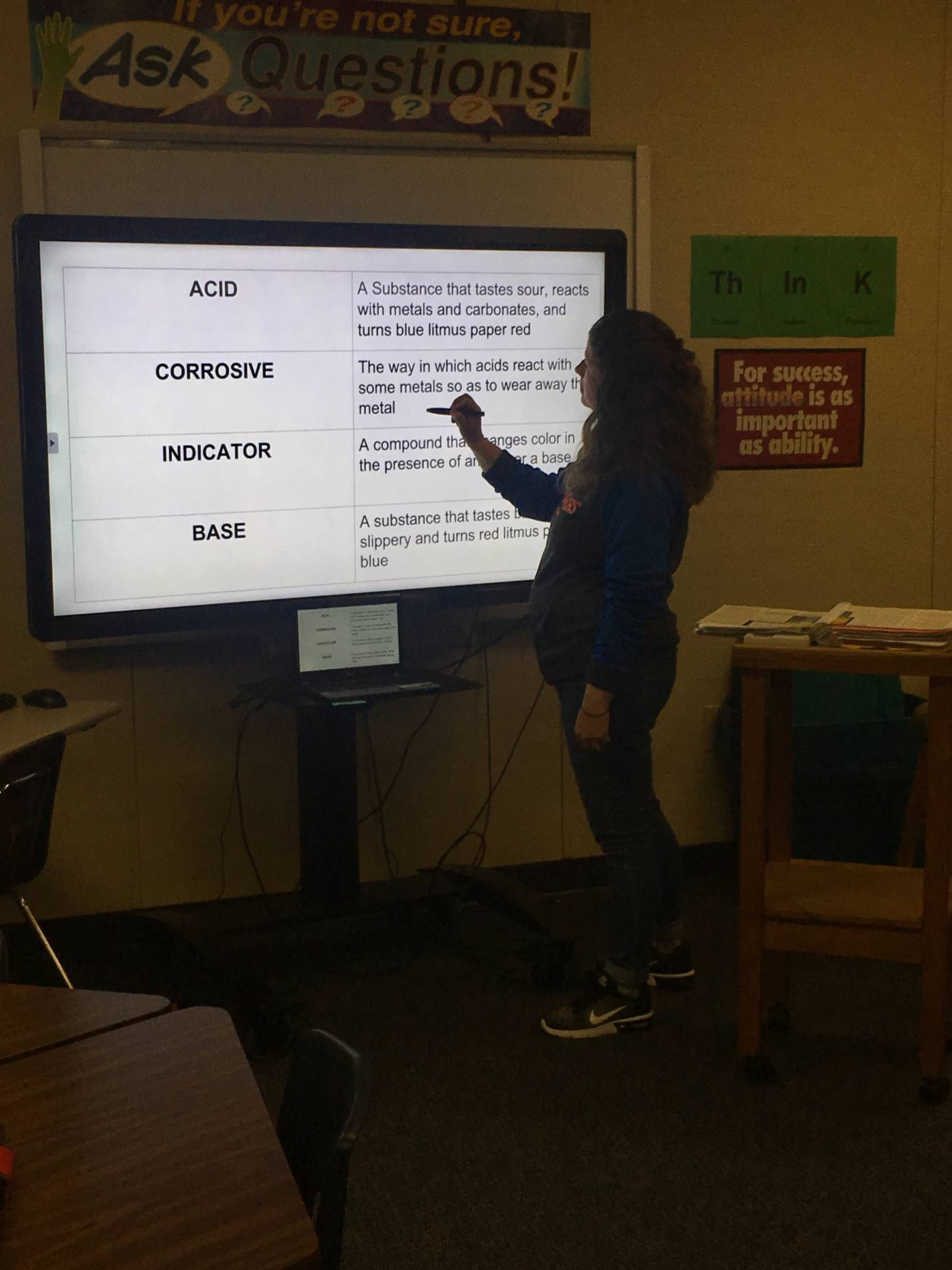 Beth Bissell is a 7th grade Science teacher, enjoying her new Clevertouch interactive board.