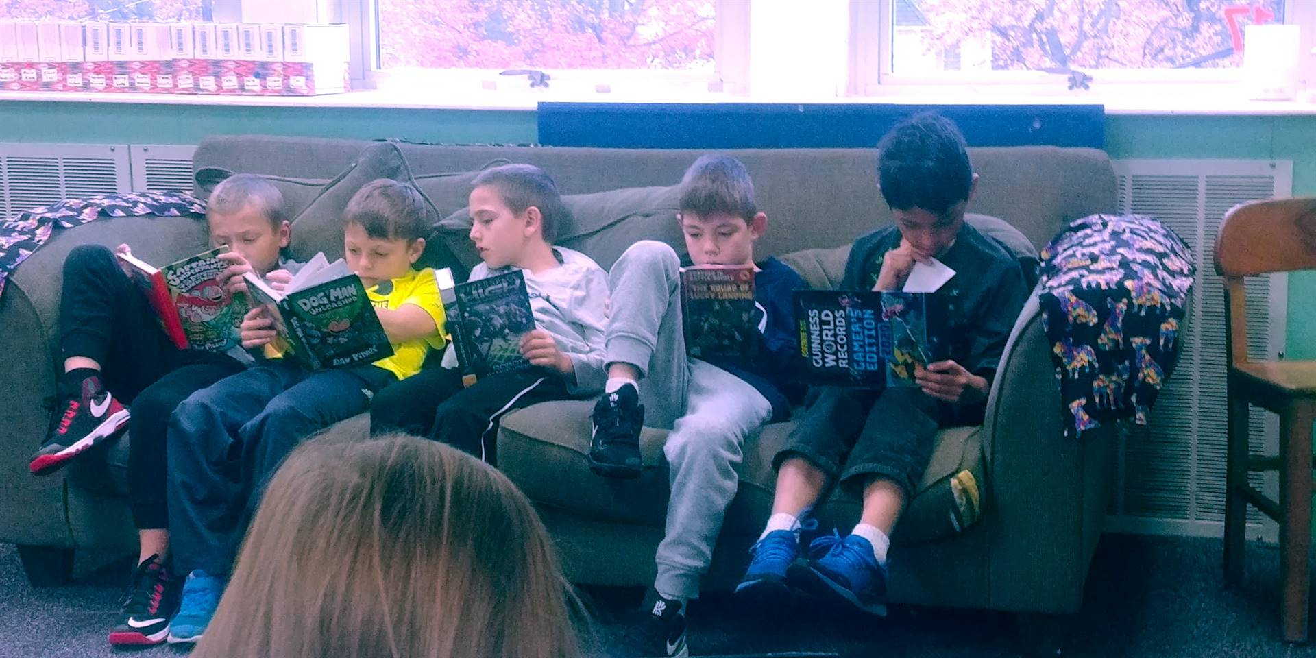 Reading after a trip to the Public Library