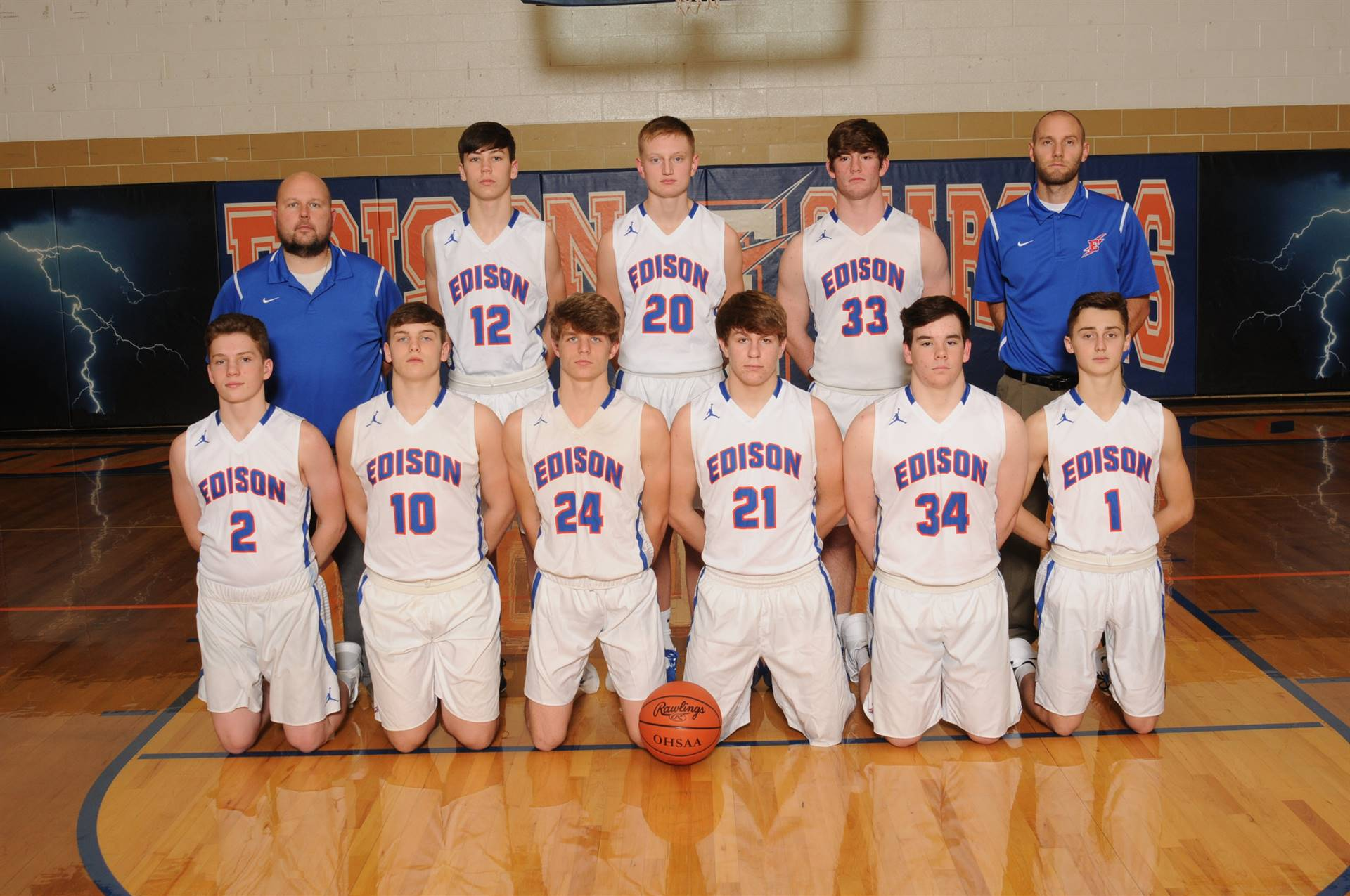 2019 Junior Varsity Boys Basketball Team