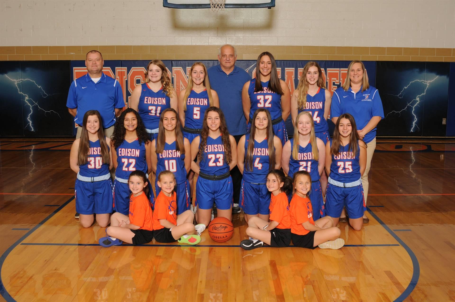 2019 Junior Varsity Girls Basketball Team