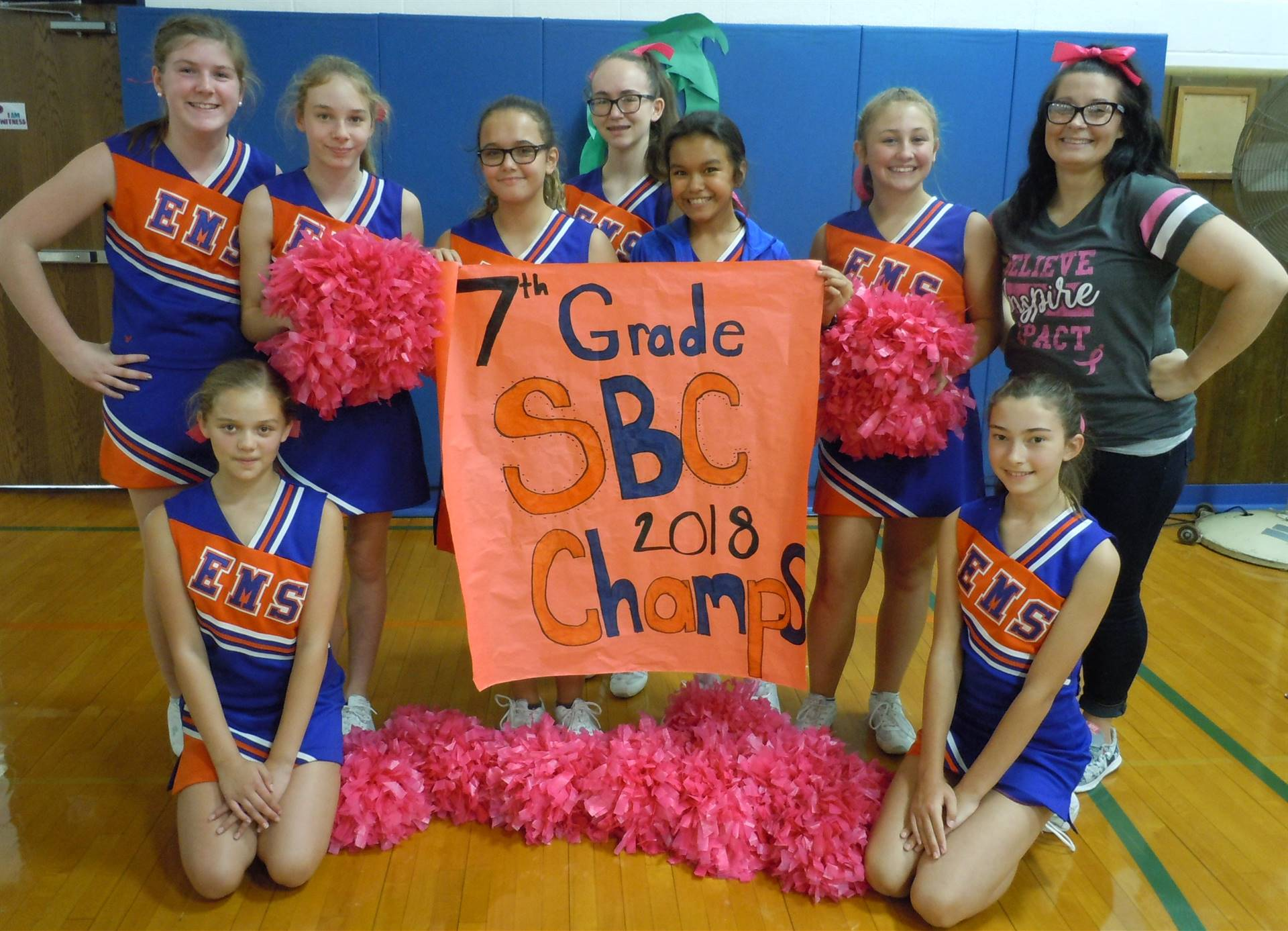 7th Grade Fall Cheerleaders