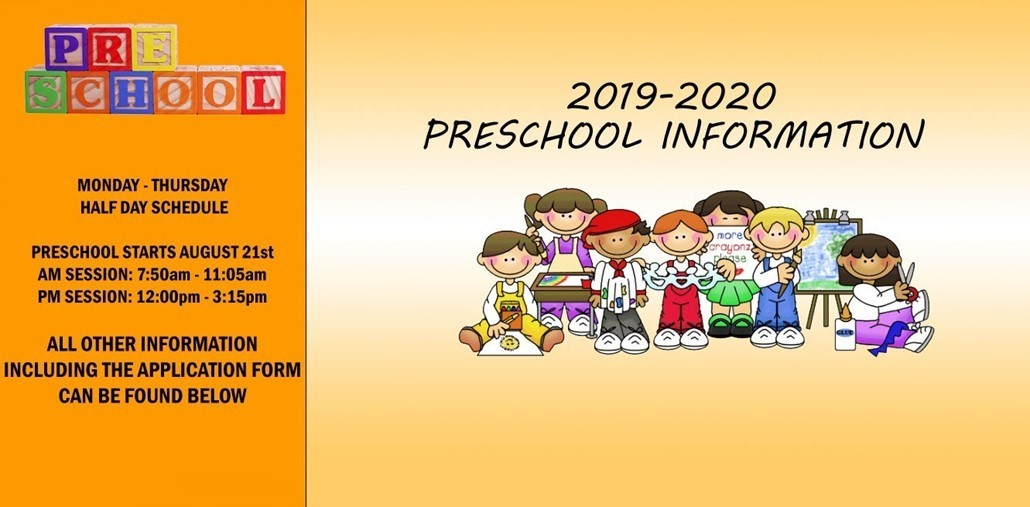 Preschool Information 2019-20