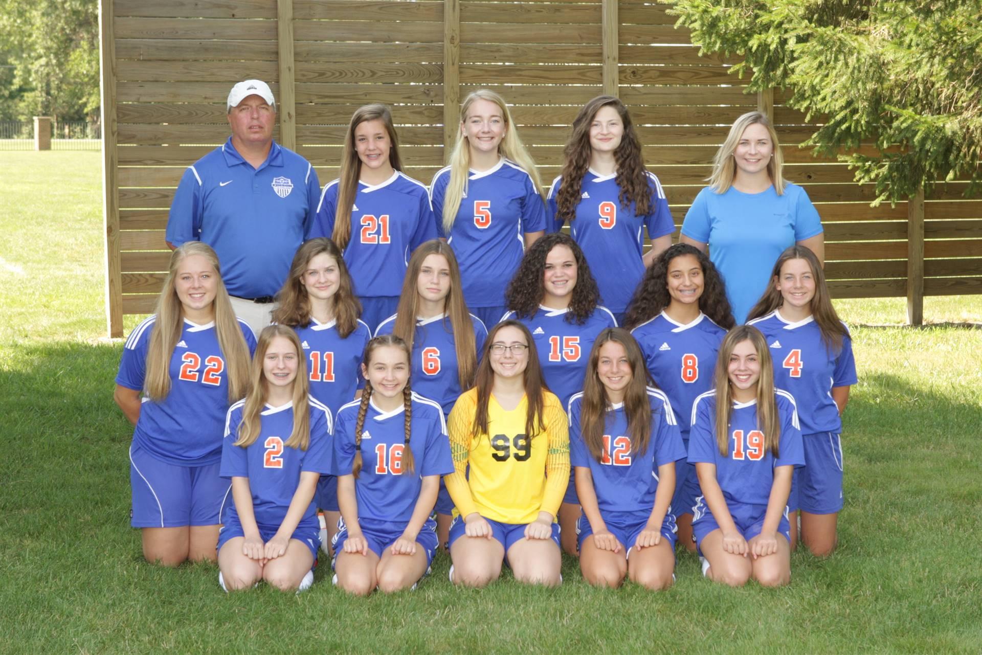 2019 Junior Varsity Girls Soccer Team