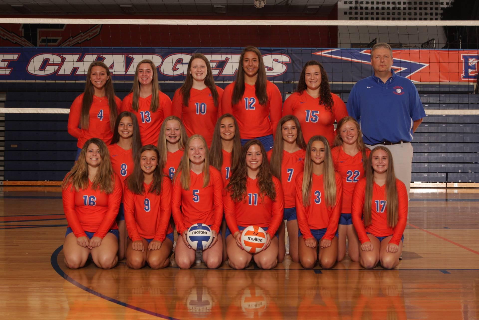 2019 Junior Varsity Volleyball Team