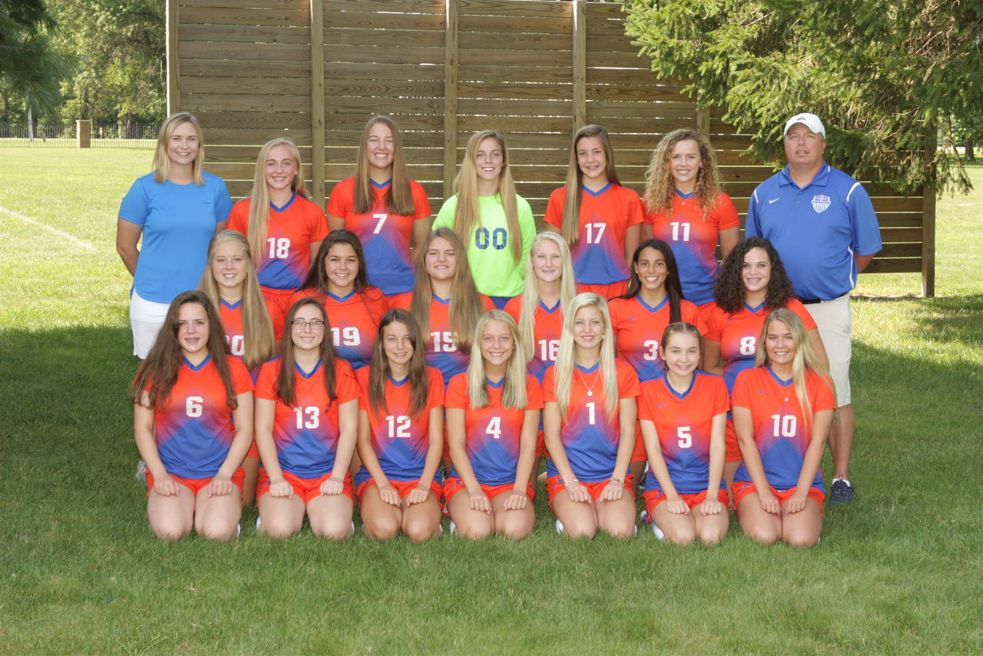 2019 Varsity Girls Soccer Team