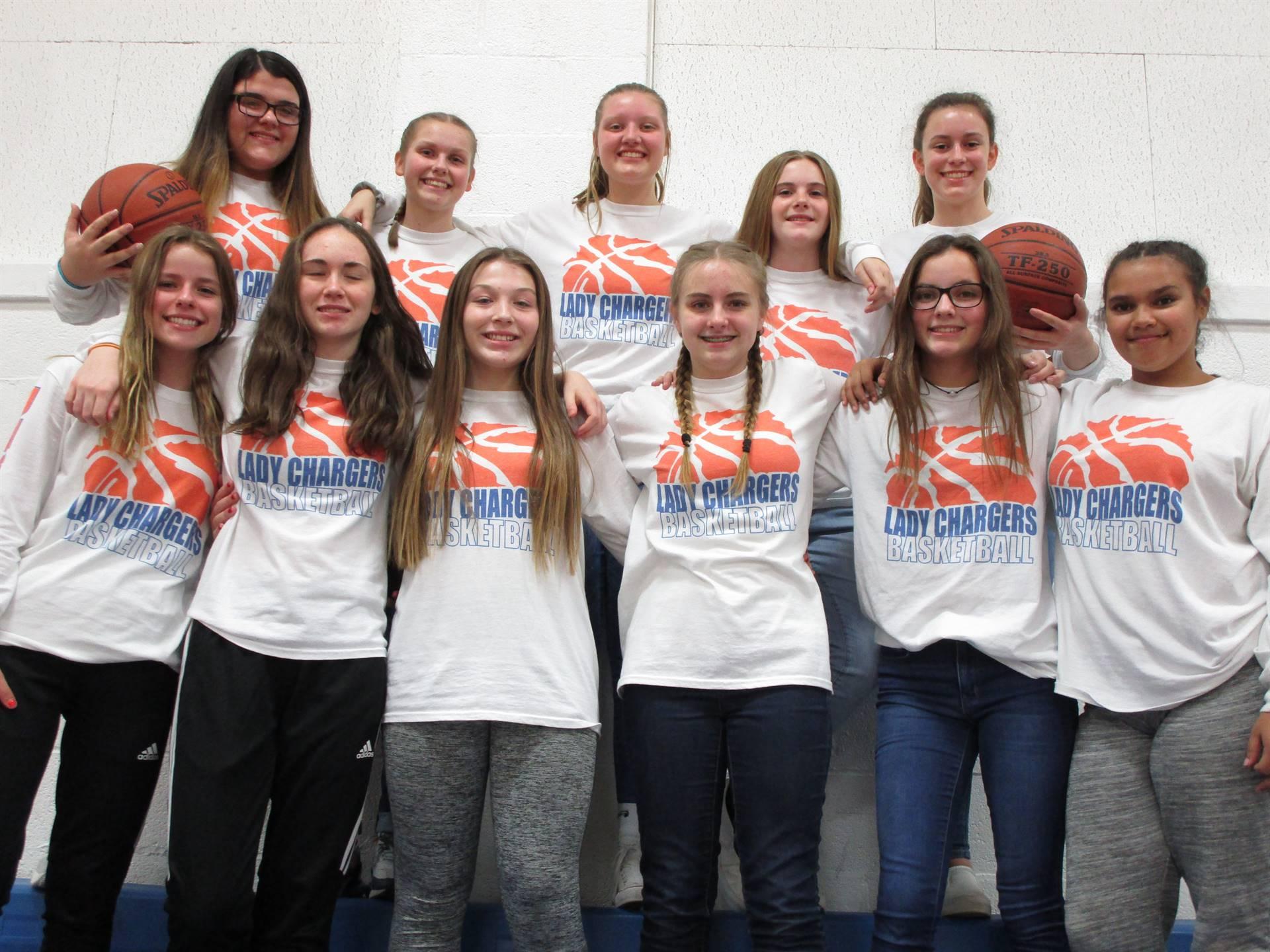 8th Grade Girls Basketball Team 2019-2020 Season