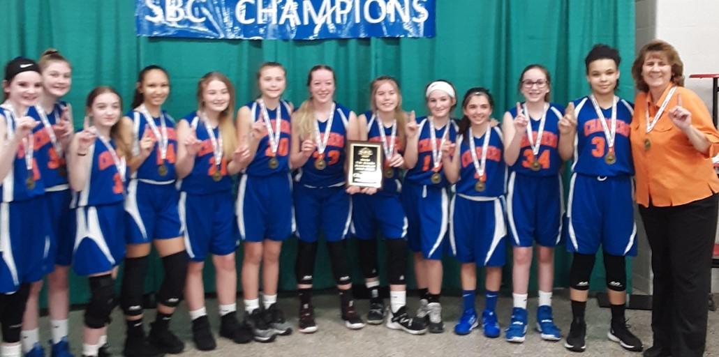 7th Grade Girls Basketball SBC Champions