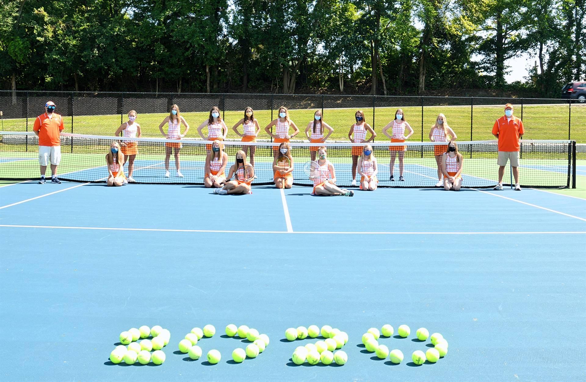 2020 Girls Tennis Team