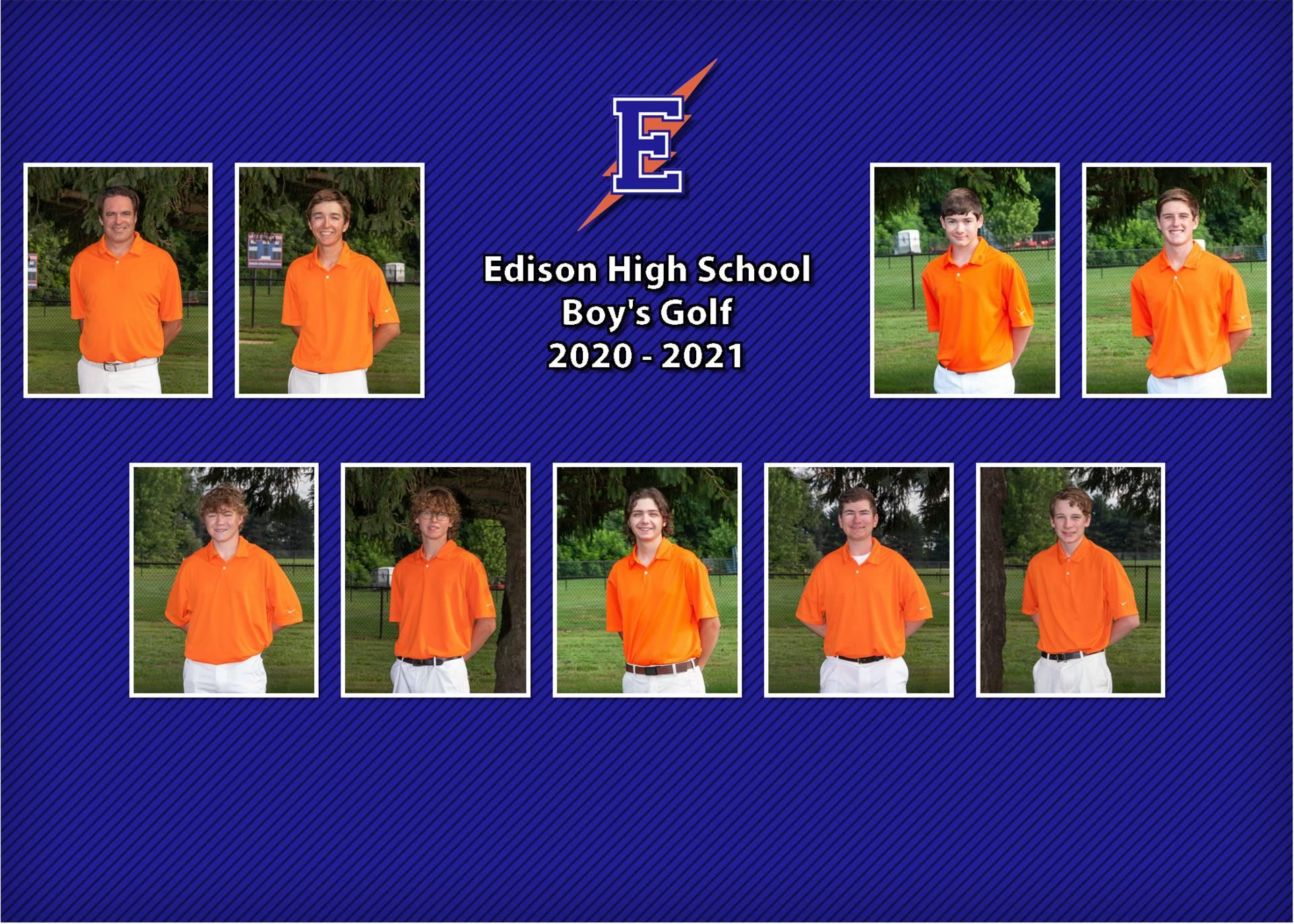 Boys Golf Team Photo