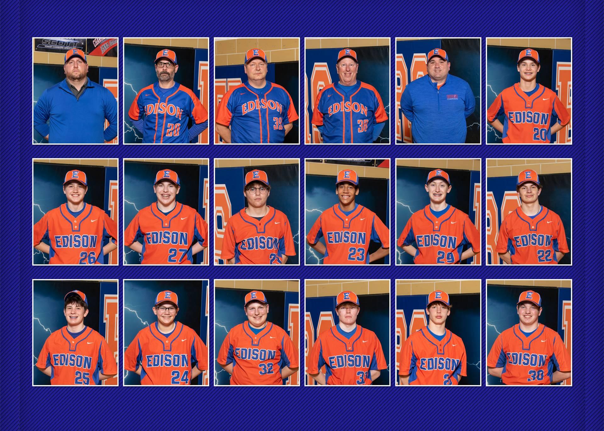 2021 Charger JV Baseball Team