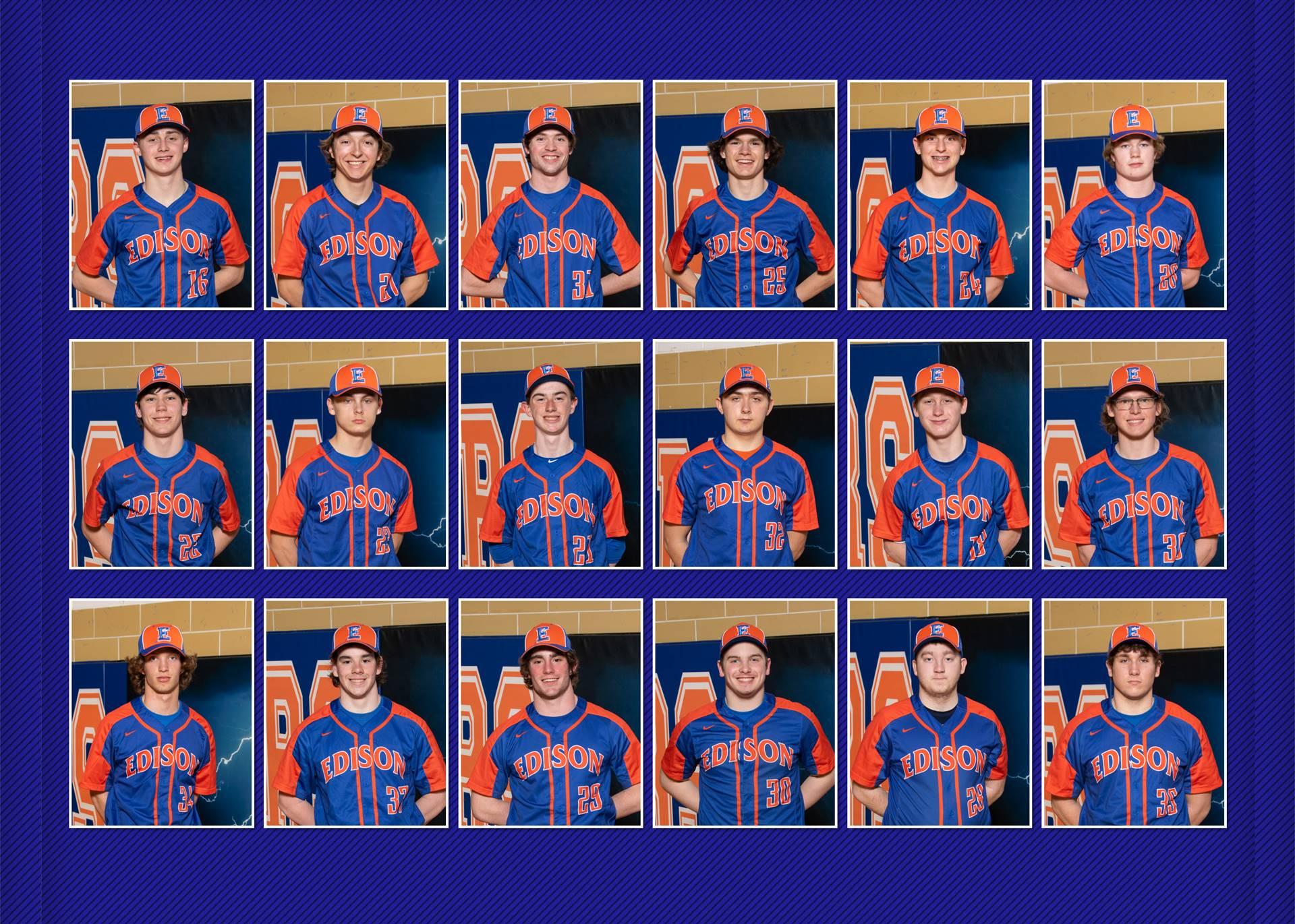 2021 Charger Varsity Baseball Team