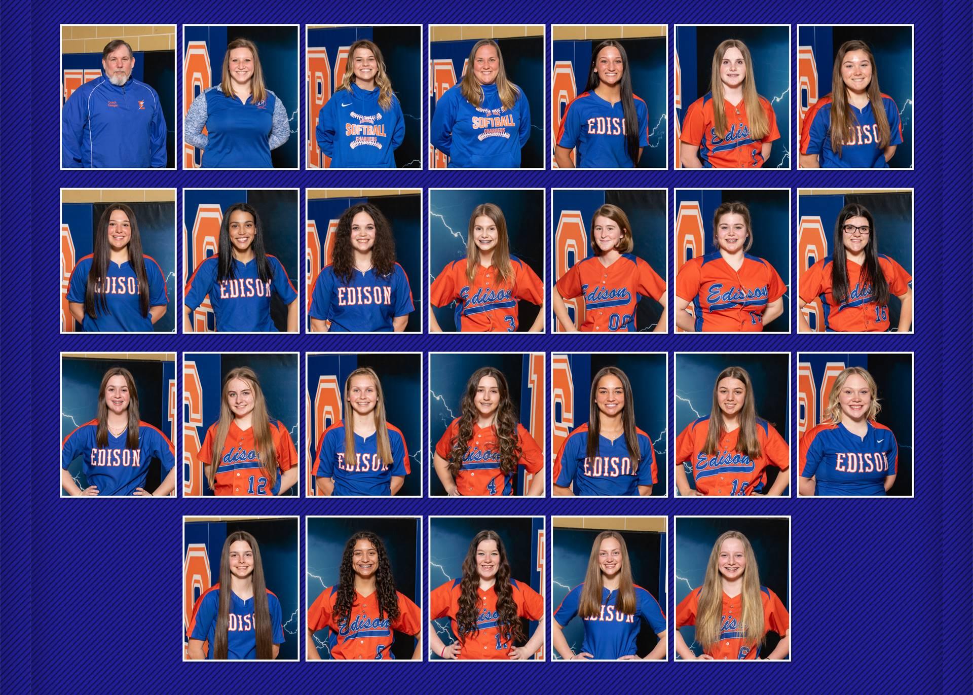 2021 Lady Charger Softball Teams